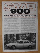 SAAB 900 RANGE 1979 UK Mkt Sales Brochure - inc Turbo