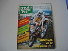MOTOSPRINT 18/1981 PROVA TEST MOTO MAICO 490 GS