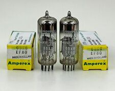 Matched Pair NOS Amperex Bugle Boys EF80 6BX6 Amp Tubes 1964 Holland