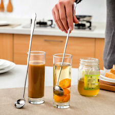 Stainless Steel Long Handle Spoon Ice Cream Tea Coffee Cocktail Tea Soup Spoon((