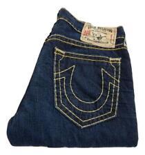 True Religion Bobby Super T Straight Leg Jeans Waist 36 Leg 32 Button Fly P0094)