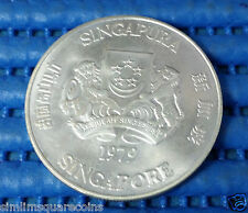 1979 Singapore Communication Satellite Earth Station $10 1 oz (50%) Silver Coin