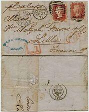 GB 1871 a Francia tarifa tardía Penny Rojos PL 106 + 109 Kumpf + Eckenstein carta