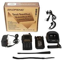 New BaoFeng UV-82 136-174/400-520 MHz FM Ham Two-way CTCSS Radio Walkie Talkie