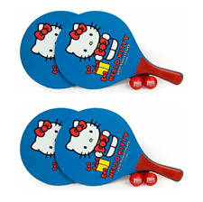 HELLO KITTY Paddle Board Set NIP Ping Pong Table Tennis Beach 4 Paddles + 4 Ball