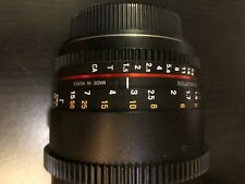 Rokinon 85mm T1.5 Full Frame Cine DS Lens for Canon EF