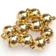 10 Sets Silver/Gold Plated Round Ball Magnetic Clasps 6/8mm For Jewelry -NJCA