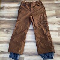 Sessions Intro Series Mens Medium Brown Insulated waterproof Ski Snowboard Pants