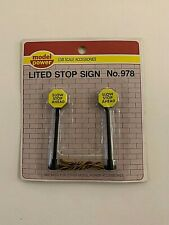 MODEL POWER G SCALE #978 LIGHTED STOP SIGN (2/Package) - Lot of 3.