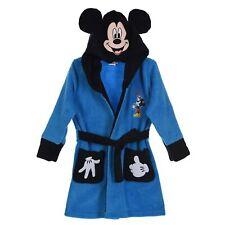 Fleece Dressing Gown 3-4 Years Disney Mickey Mouse Night Lounge Wear Blue