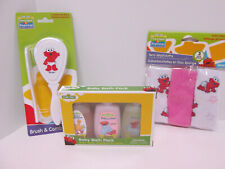 Sesame Street Elmo Baby Toddler Bath Set Travel Shampoo Lotion Comb Washcloth