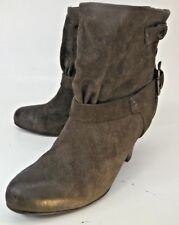 Latitude Femme Womens Boots Ankle EU 39 US 9 Brown Suede Pull On Anthropologie