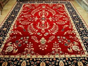Love Red Real Hand Knotted Fine Carpet (9 x 12)'