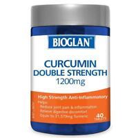 BIOGLAN CURCUMIN DOUBLE STRENGTH 1200MG 40 TABLETS REDUCE JOINT PAIN ARTHRITIS