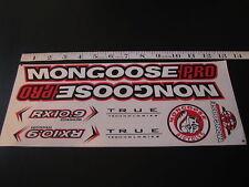 Mongoose PRO RX 10.9 Titanium Stickers White, Black & Red.