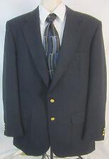 Stafford Navy Blue Blazer Jacket Gold Buttons  - Men's 43L