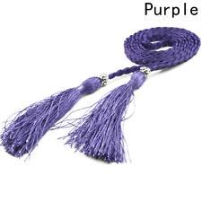 Woman's Tassel Waist Belt Strap Rope Ladies Chic Thin Braided Waven Waistband