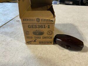 5x GE GE5361-1 Brown Feed Thru Switches, NOS