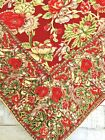 Vintage+April+Cornell+Floral+Tablecloth+Great+Fall+Colors%2C+Birdsl%2C+52%22+x+54%22+