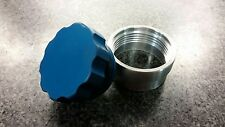 "Blue - 1.5"" 38.1mm Aluminium Weld On Filler Neck And Cap Oil Fuel Water Tank New"