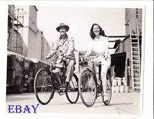 Adele Mara on bike John Hubbard VINTAGE Photo candid on columbia studio
