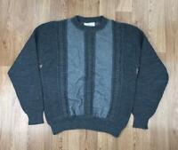 Vintage 90s ICEBERG Mens Knit Jumper   JC DE CASTELBAJAC Casuals   Large L Grey