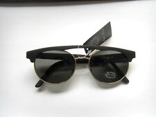 f3a0102f9f MATT BLACK ORIGINAL LINDA FARROW VINTAGE RETRO SUNGLASSES PRISTINE CONDITION