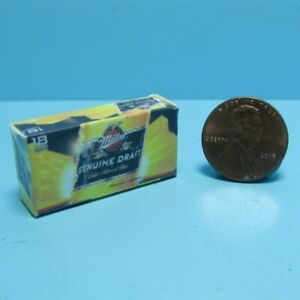 Dollhouse Miniature Replica Miller Genuine Draft Beer Box / Case