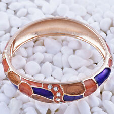 Fashion jewelry gold plated multicolor Enamel bangle charms bracelet