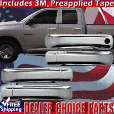 2009-2018 RAM 1500 2010-2018 RAM 2500 3500 Chrome 4DR Door Handle COVERS W/O PSK