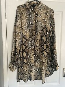 Blouse Simply Be Sz 20 Snake Print
