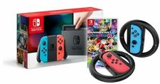 *New* Nintendo Switch Console Neon + Mario Kart 8 Deluxe Game + Wheel Twin Pack