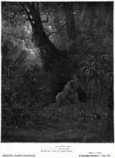 Adamo de Eva, dopo il peccato originale, temono Dio.Milton:Paradiso Perduto.1881