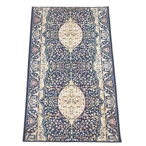 """Runner Area Rug 2' 2"""" Wide, Sold by Foot Blue Silk Blend 