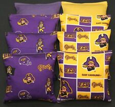 All Weather Ecu East Carolina Pirates Cornhole Bean Bags Resin Filled Game Bags