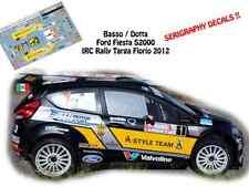 DECALS 1/43 FORD FIESTA S2000 -#1 G.BASSO - RALLYE IRC TARGA FLORIO 2012- NCM062