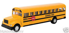 Yellow School Bus Diecast Model pull back action openable doors 7 inch