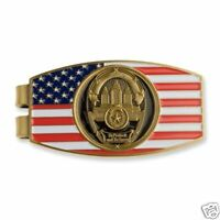 POLICE OFFICER PROTECT AND SERVE FLAG MONEY CLIP