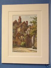 THE CLOSE GATE WINCHESTER VINTAGE DOUBLE MOUNTED HASLEHUST PRINT 10 X 8 OVERALL