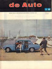 MAGAZINE DE AUTO 1966 nr. 41 - LANCIA FLAMINIA CABRIOLET/VOLVO 120/SOMCA 1000
