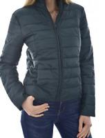 Doudoune Femmes slim ultra fine blouson zippé  hiver chaude Jacket  Noir  S