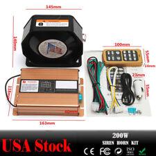 200W 8 Sound Car Warning Alarm Police Fire Siren Horn PA Speaker MIC System Safe