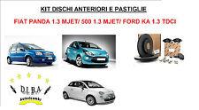 KIT DISCHI FRENO E PASTIGLIE FIAT PANDA/500 1.3 MJET E FORD KA 1.3 TDCI