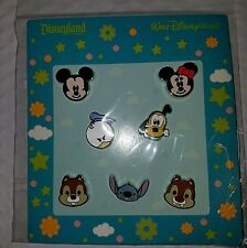 Disney Pins  CUTE FAB CHARACTER FACES * NEW 7 Pin Booster Set