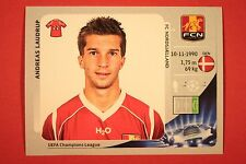 PANINI CHAMPIONS LEAGUE 2012/13 N. 366 LAUDRUP NORDSJAELLAND BLACK BACK MINT
