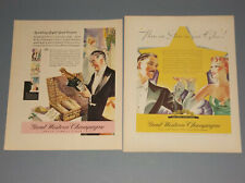 4 1934-1943 GREAT WESTERN CHAMPAGNE ADS PLEASANT VALLEY WINE COMPANY