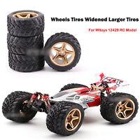4PCS/Set Widen Larger Wheels Tires For Wltoys 12428 12428-ABC RC Car Accessories