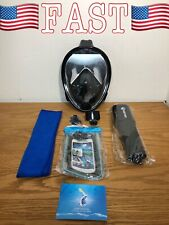 WSTOO Snorkeling Packages Full Face Mask,180 Panoramic View Mask-Anti-Fog, L/XL