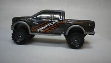 2016 Hot Wheels Gray 17 Ford Raptor F150 Pickup Truck Custom Real Riders