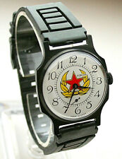 NOS New CCCP Russian Army USSR Red Star Dial Mechanical Mens Watch 1980s Pobeda